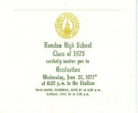 Our graduation invitation